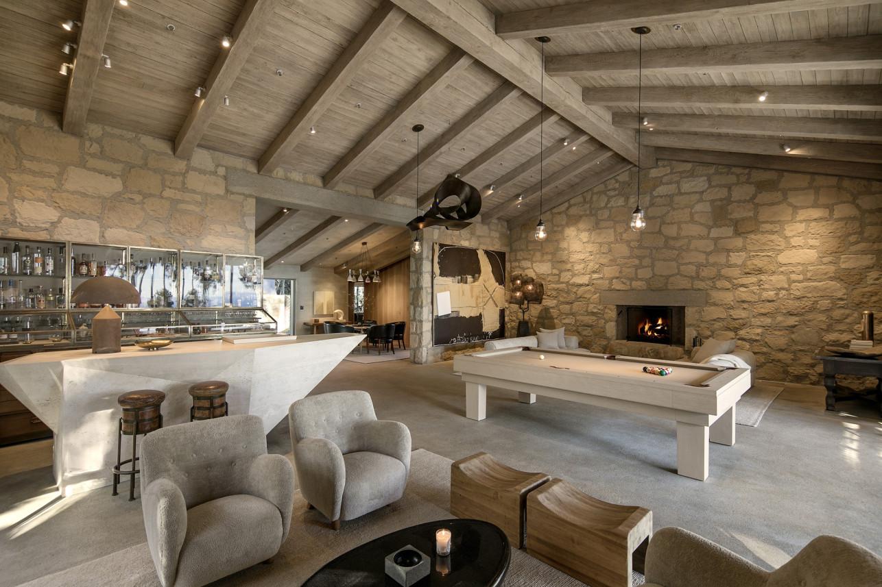 Um salão de pedra