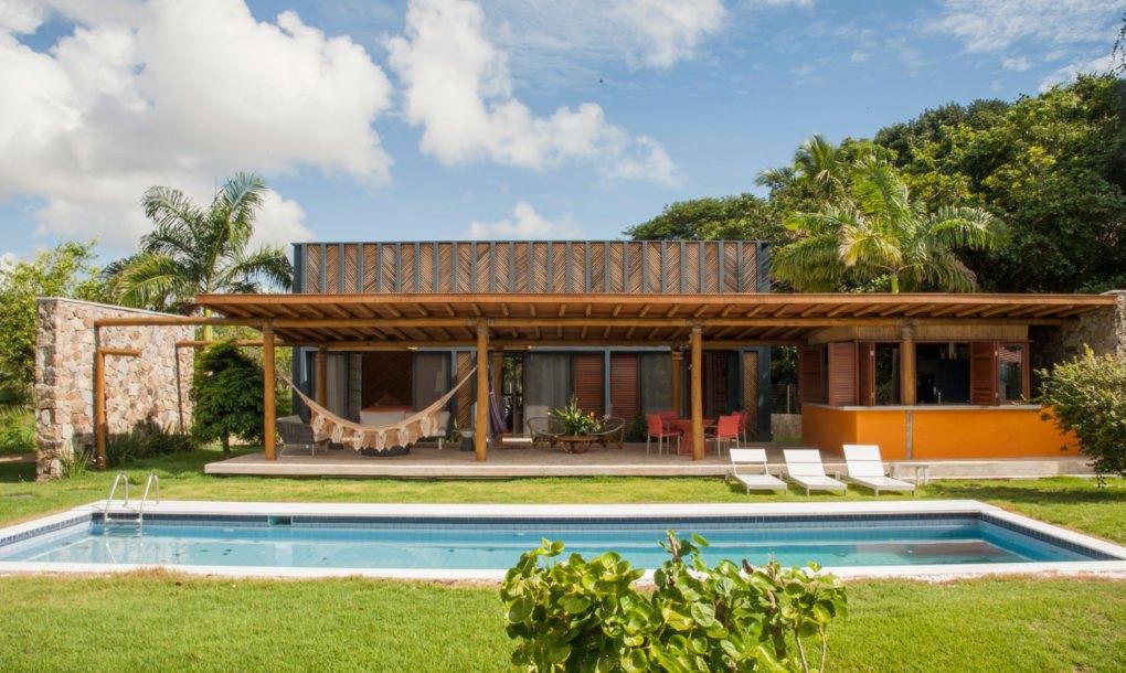 A moradia encontra-se no nordeste brasileiro