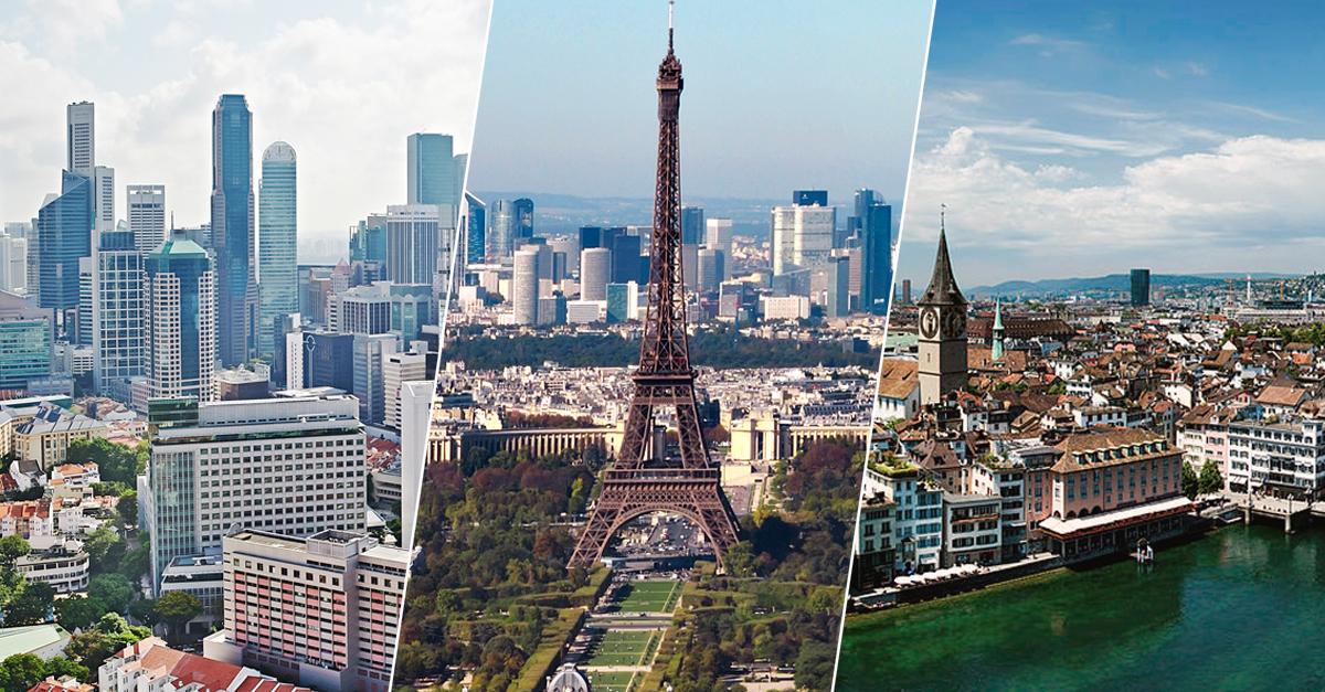 Há cinco cidades europeias no top 10