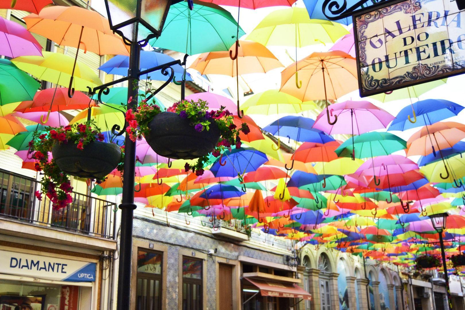 Guarda-chuvas flutuantes