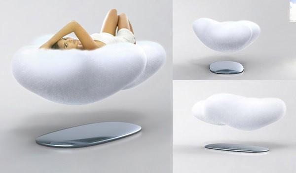 Um sofá flutuante