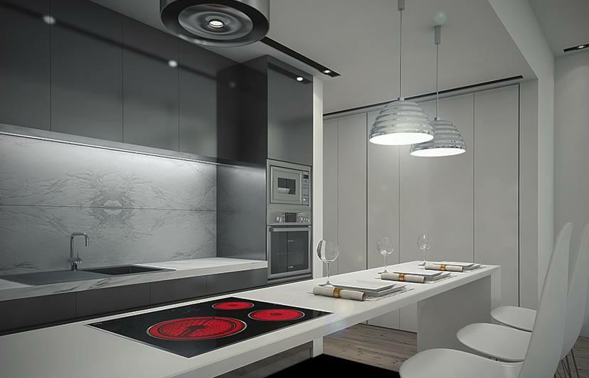 Abertura cozinha, sala, corredor com criação de armário a toda a altura e comprimento da parede / MELOM