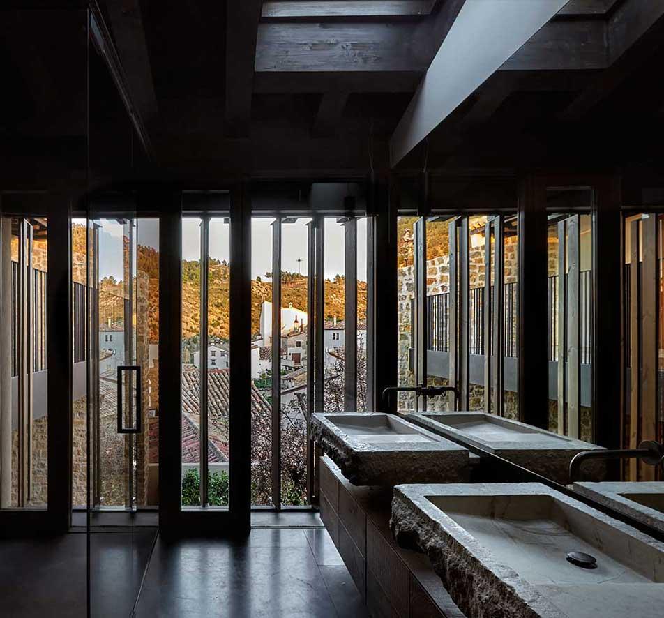 A casa de banho com vista