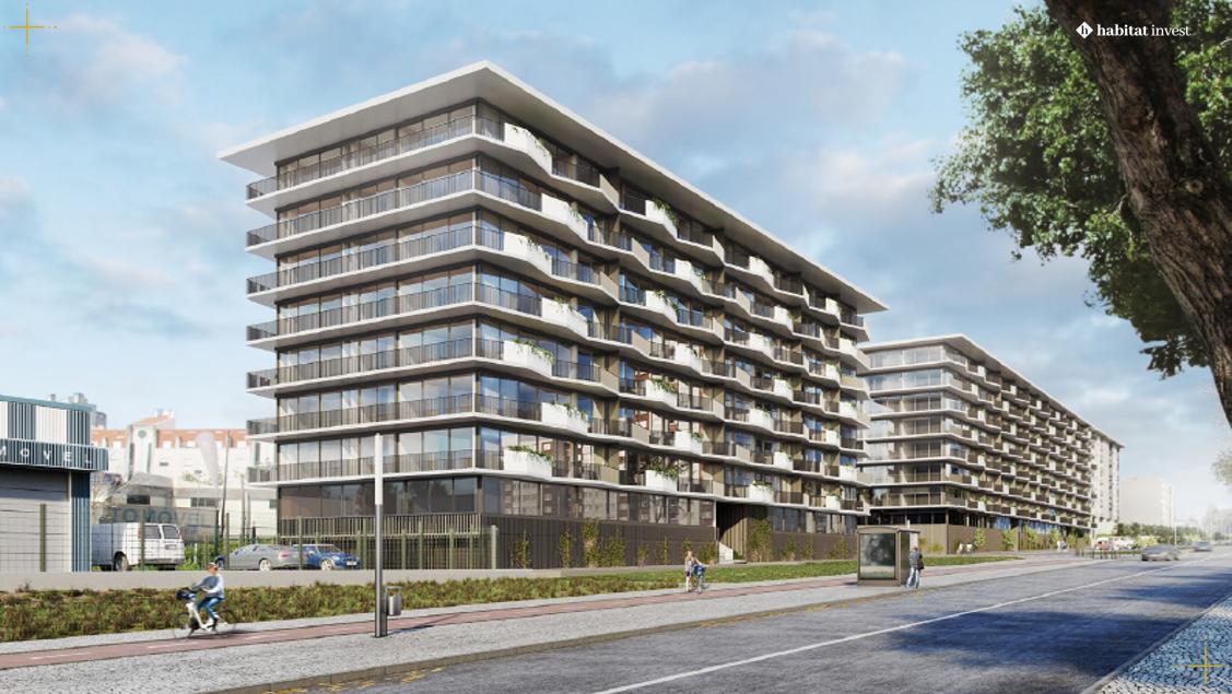 No Berlim I e no Berlim II está prevista a construção de 155 apartamentos / Habitat Invest