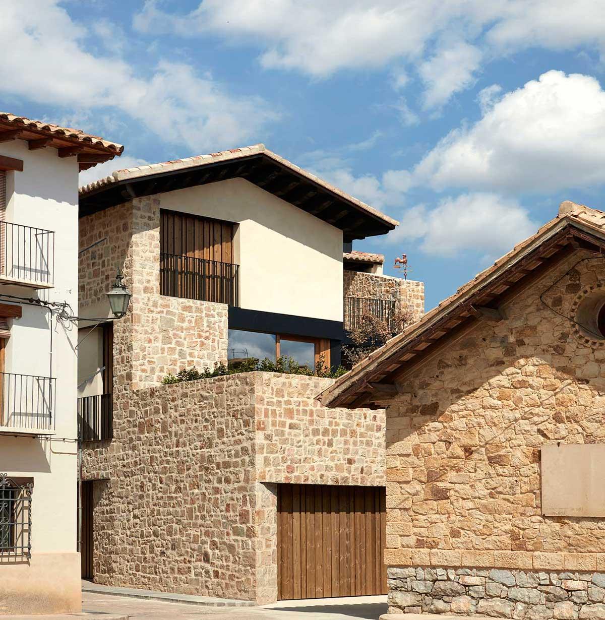 A casa localiza-se em Teruel