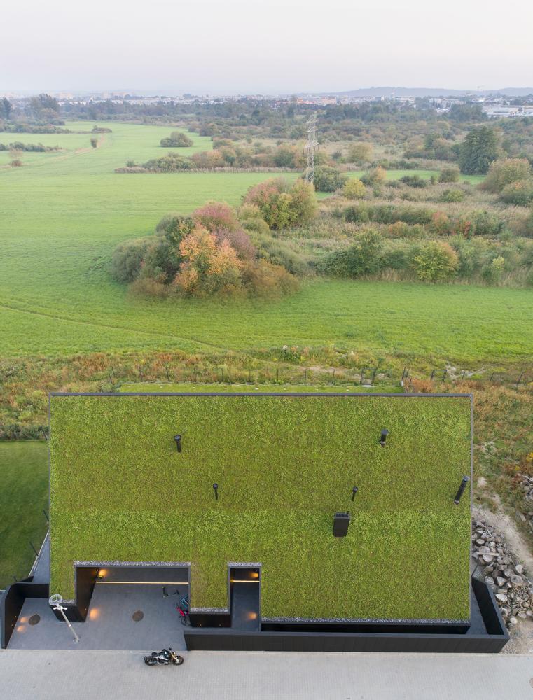 Vista aérea da propriedade