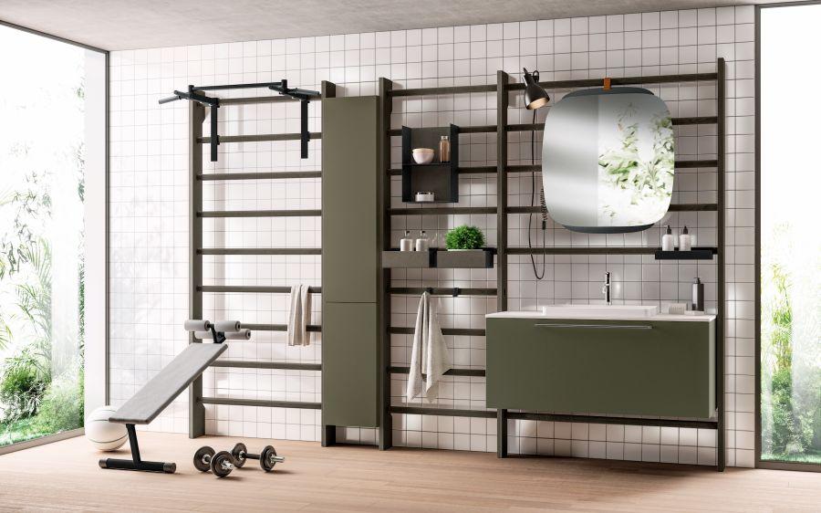 Uma casa de banho - ginásio
