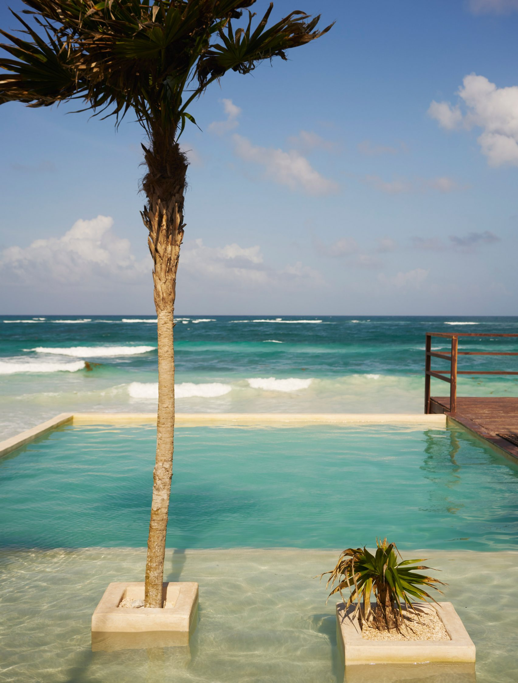 ... Ou piscina com mar