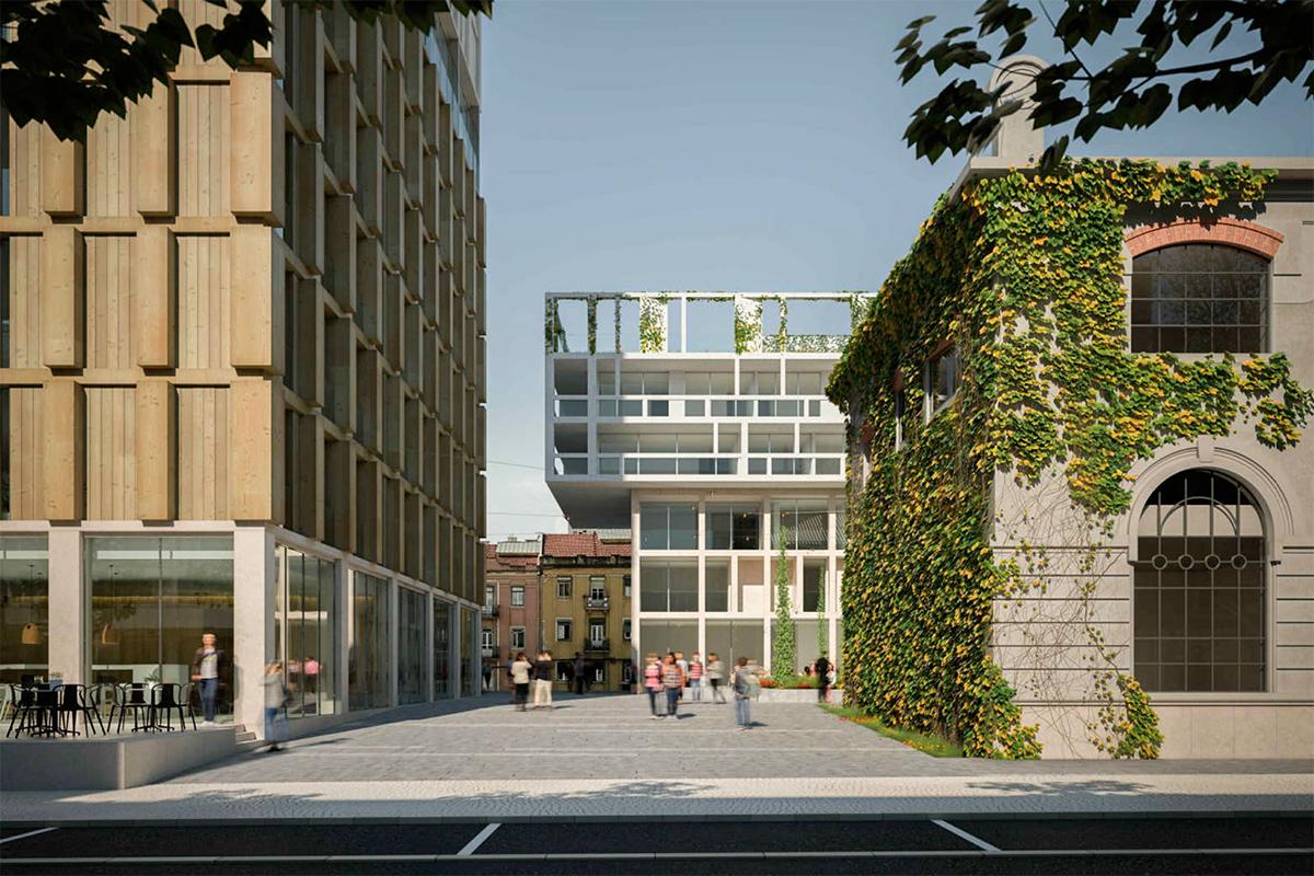 Mega projeto composto por habitação, comércio e escritórios / Essentia