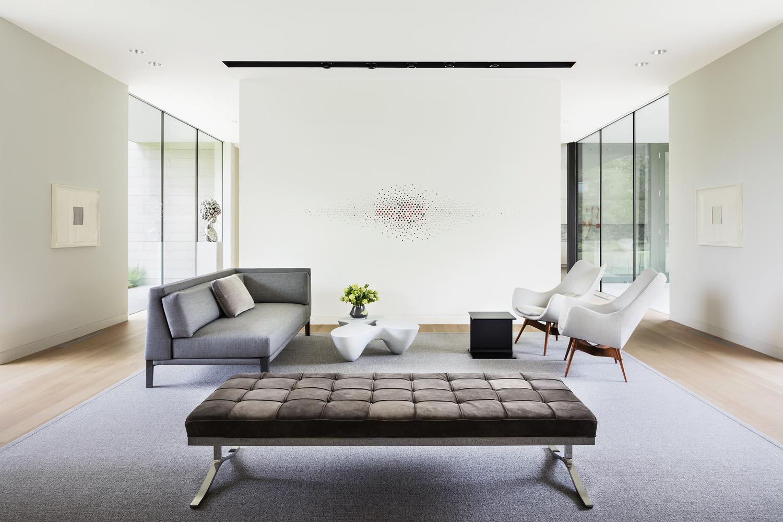Aqui uma sala de estar...
