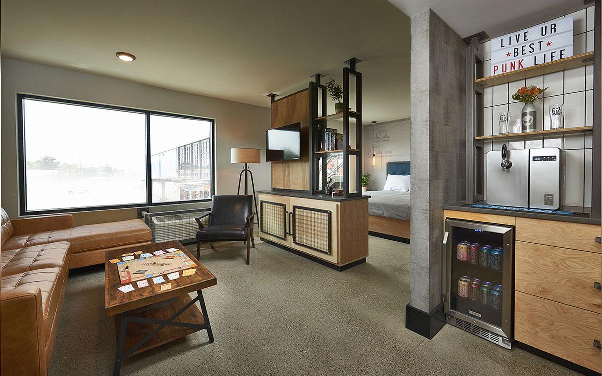Uma das oito suites