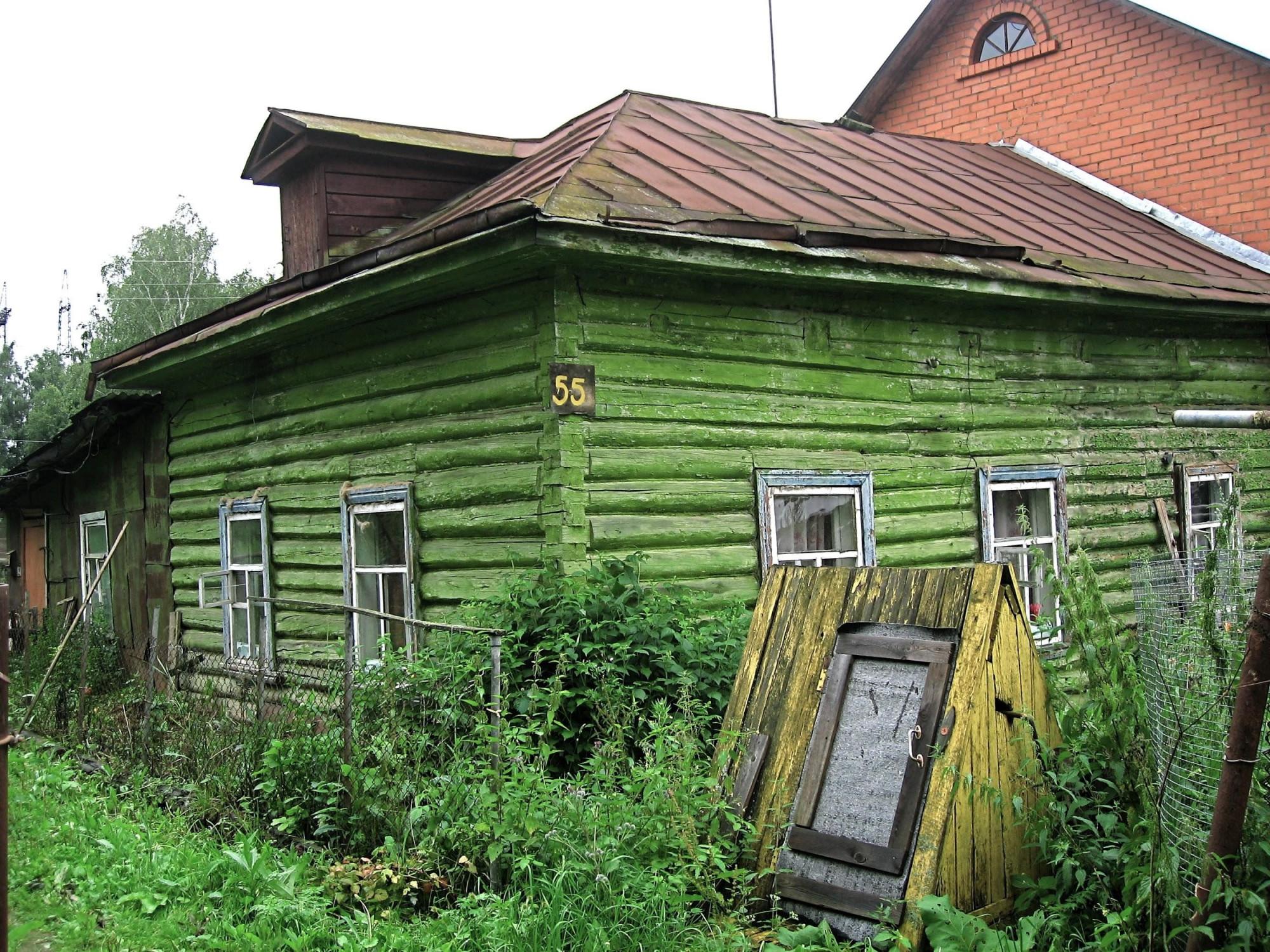 Uma típica casa de madeira
