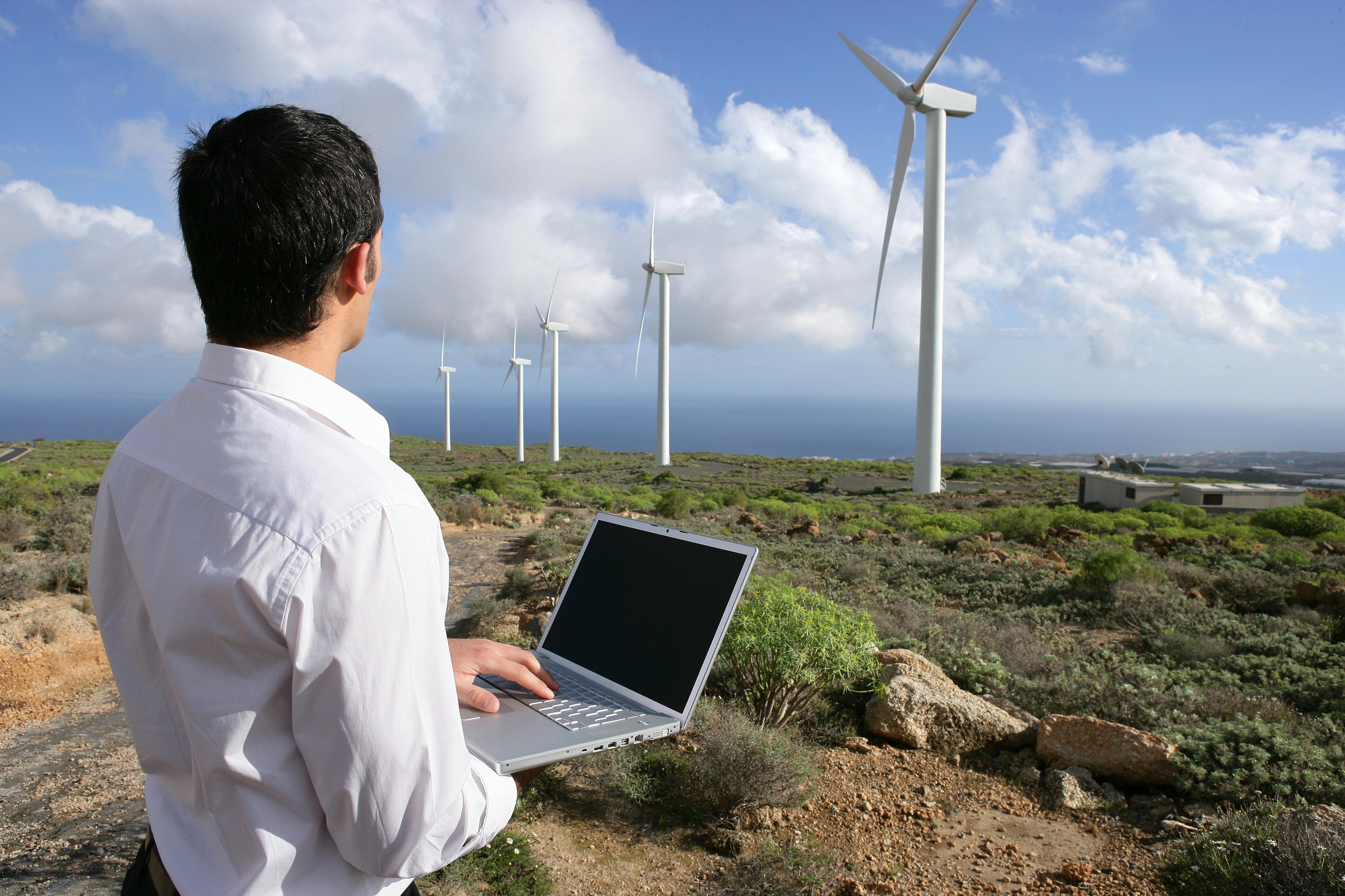 Um técnico de turbina eólica é muito valorizado nos EUA / Gtres