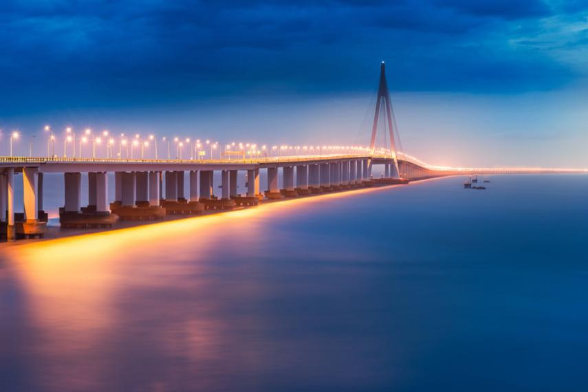 8. Ponte da baía Hangzhou, China