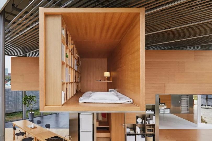 O quarto retangular visto do exterior / Foto: Designboom