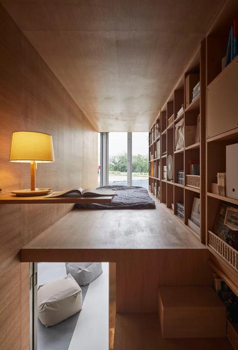 """O quarto ao pormenor visto """"por dentro"""" / Foto: Designboom"""