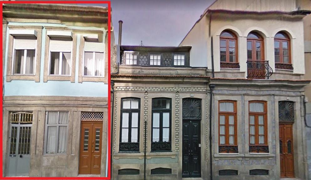 Este imóvel no Porto, na Rua Anselmo Braancamp 540-544, vai a hasta pública por 136.000 euros / Google Maps