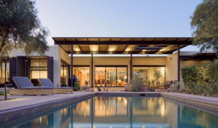 A casa está localizada em Tucson, Arizona (EUA)