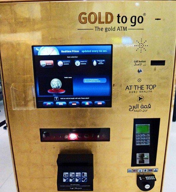 E se uma caixa de ATM desse ouro em vez de dinheiro?