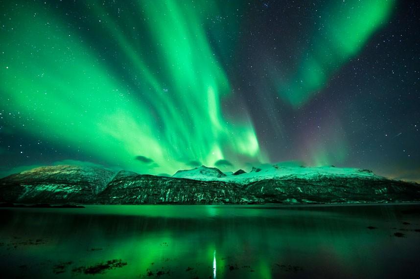 Para desfrutar das auroras boreais