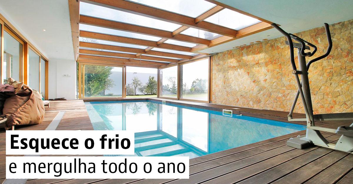 Casas com piscina interior