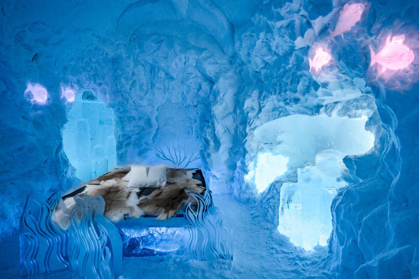 O Icehotel é esculpido todos os anos