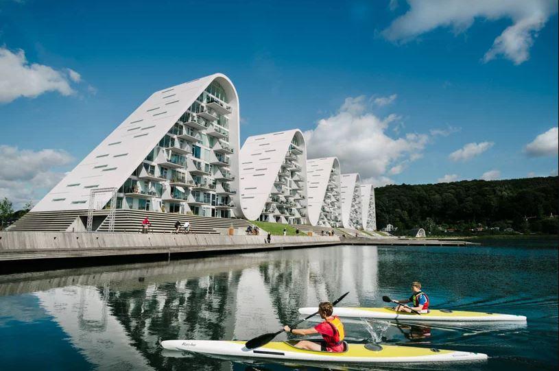 Vejle é uma pequena cidade portuária na Dinamarca