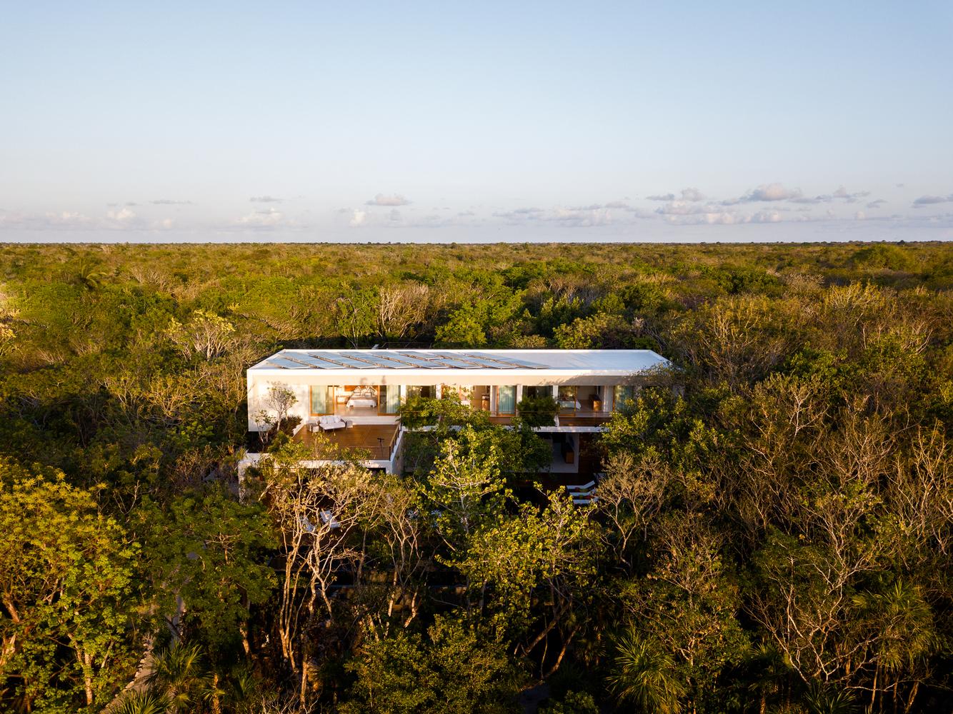 A mansão localiza-se na ilha Cozumel