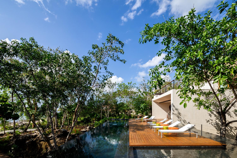 Uma piscina idílica
