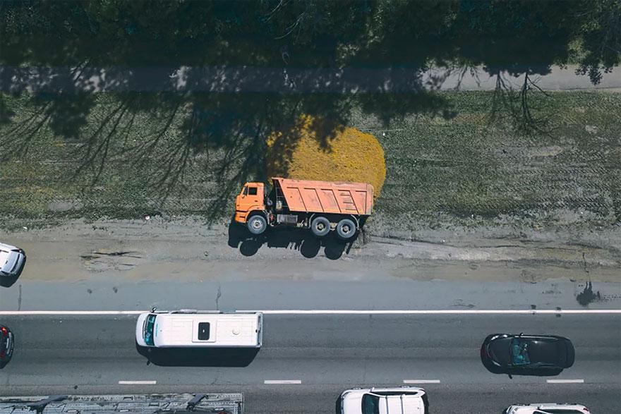 Camião colapsado