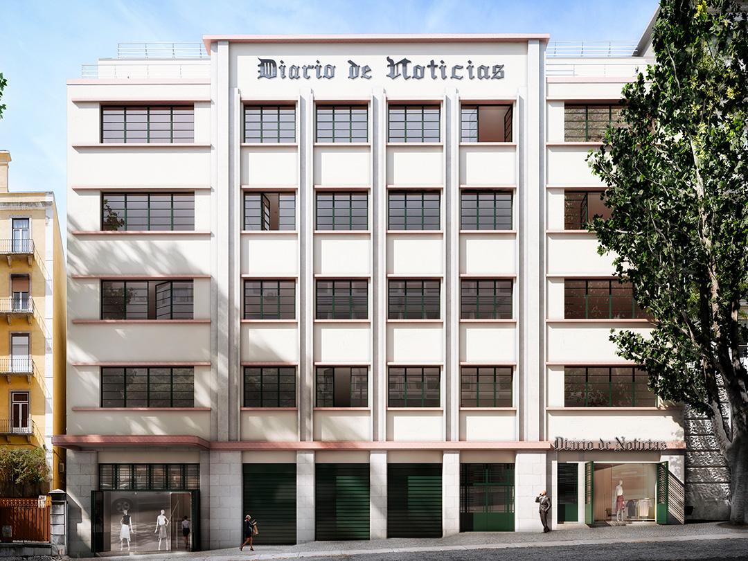 O Liberdade 266, antigo edifício do DN, é uma das obras na qual a Engexpor está a trabalhar / Engexpor