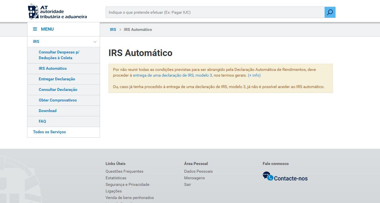 Resultado de imagem para IRS automatico