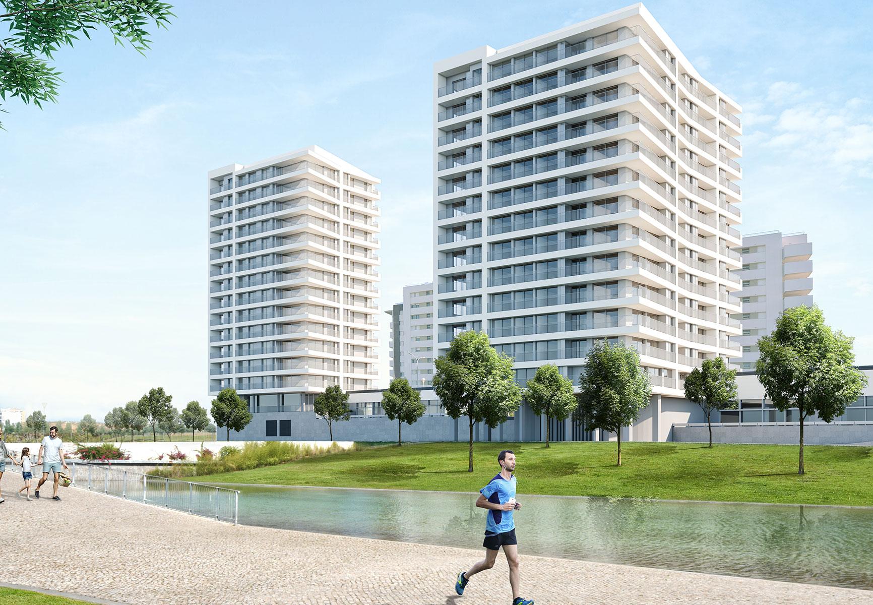 Projeto Altear, na Alta de Lisboa, onde vão nascer 500 casas / Solyd