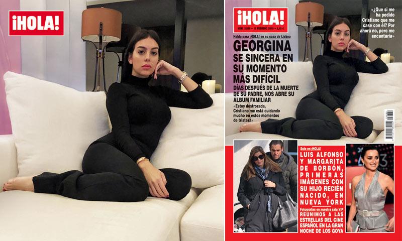 Georgina Rodríguez foi capa da revista Hola!...