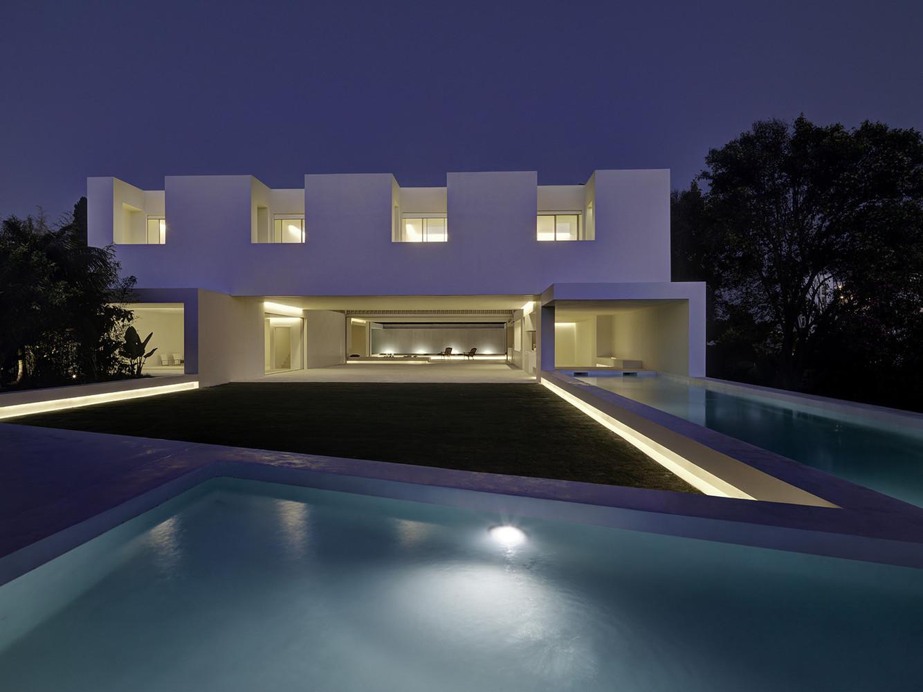 A fachada da casa