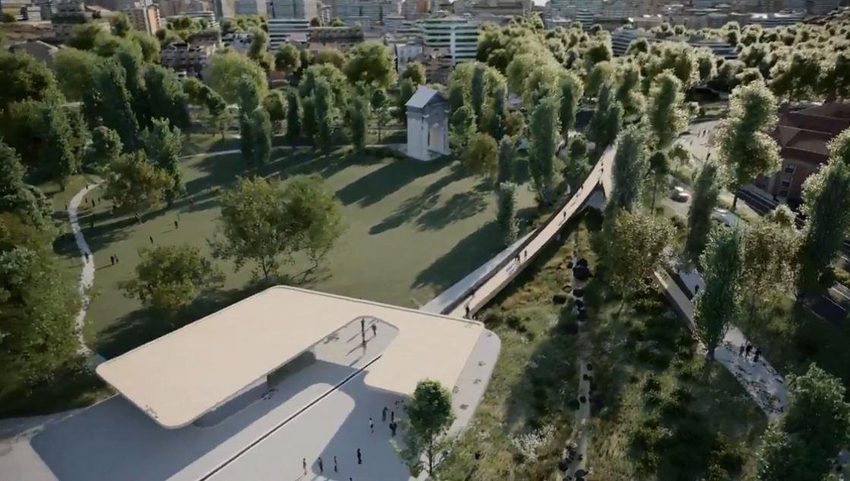 Uma ponte pedonal fará a ligação entre a Praça de Espanha e os jardins da Gulbenkian / CML