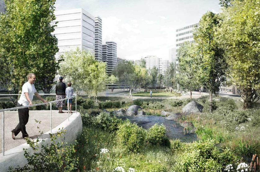 O futuro parque da Praça de Espanha é da autoria do atelier NPK / CML