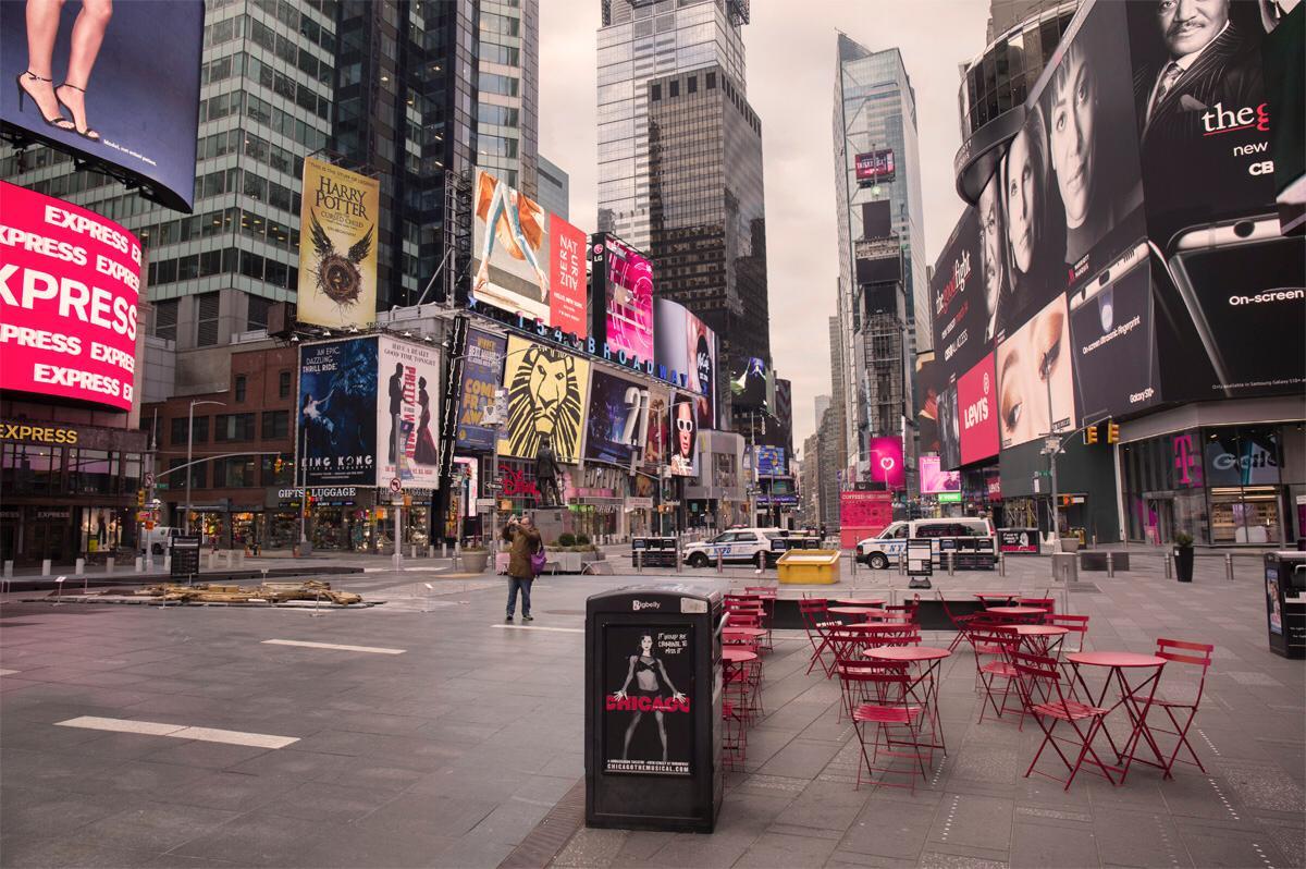 Times Square vazia