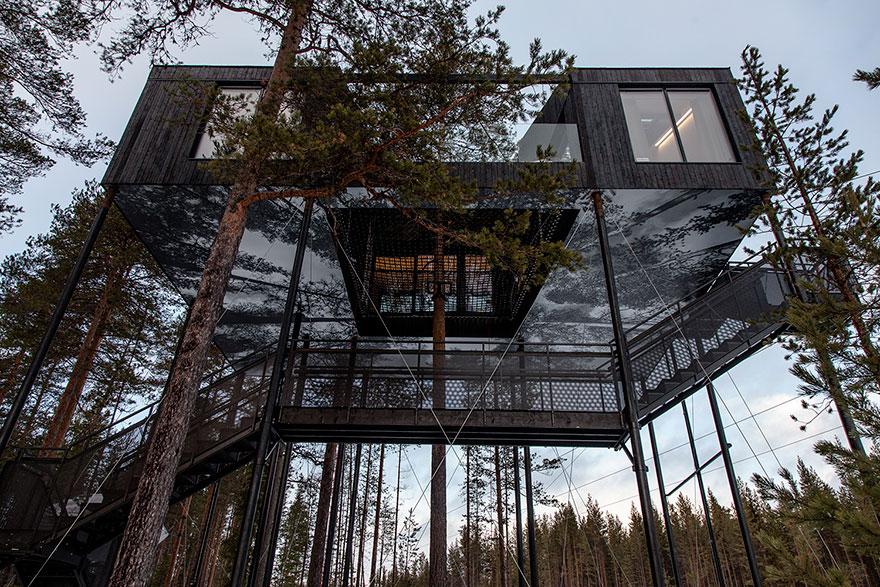 Para ver a aurora boreal na Suécia