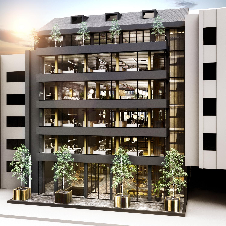 Assim será a fachada do edifício / CBRE
