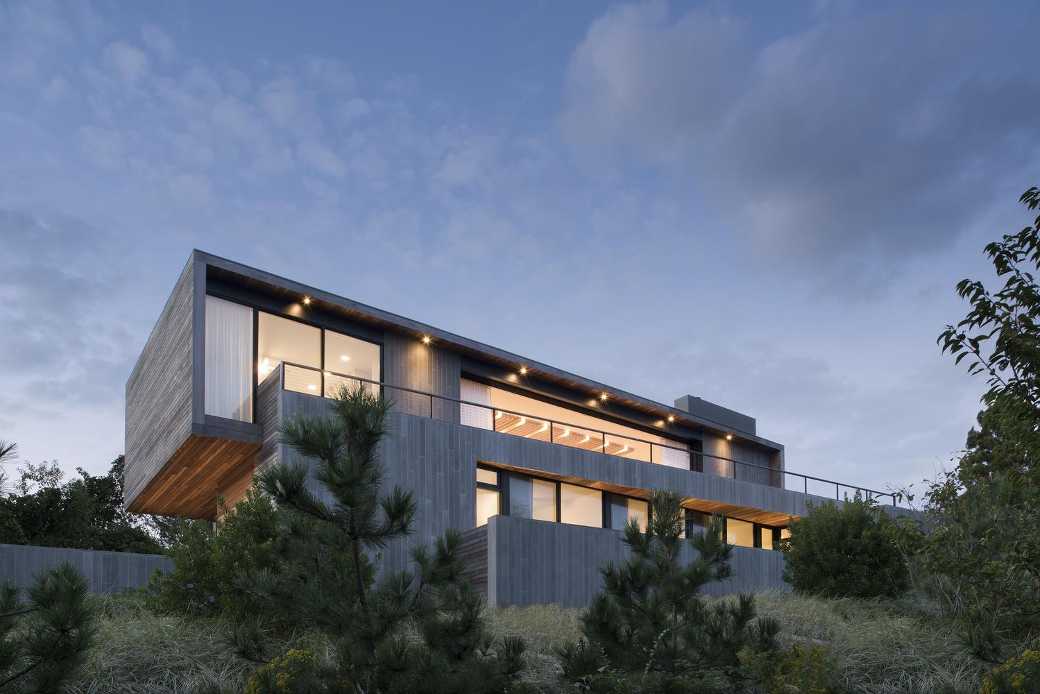 A casa fica em Montauk, EUA
