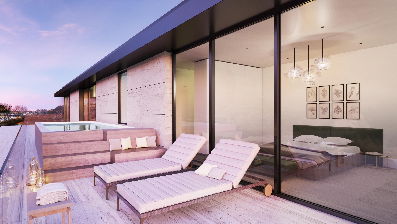 Assim será o terraço de um dos apartamentos / Predibisa