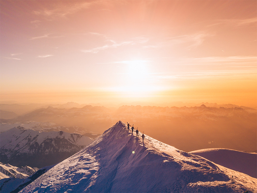 'Summit For The Team, Mont Blanc'
