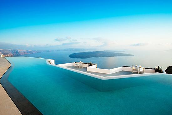 Piscinas infinitas de Santorini