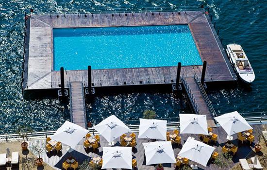 Piscina flutuante, Lago de Como