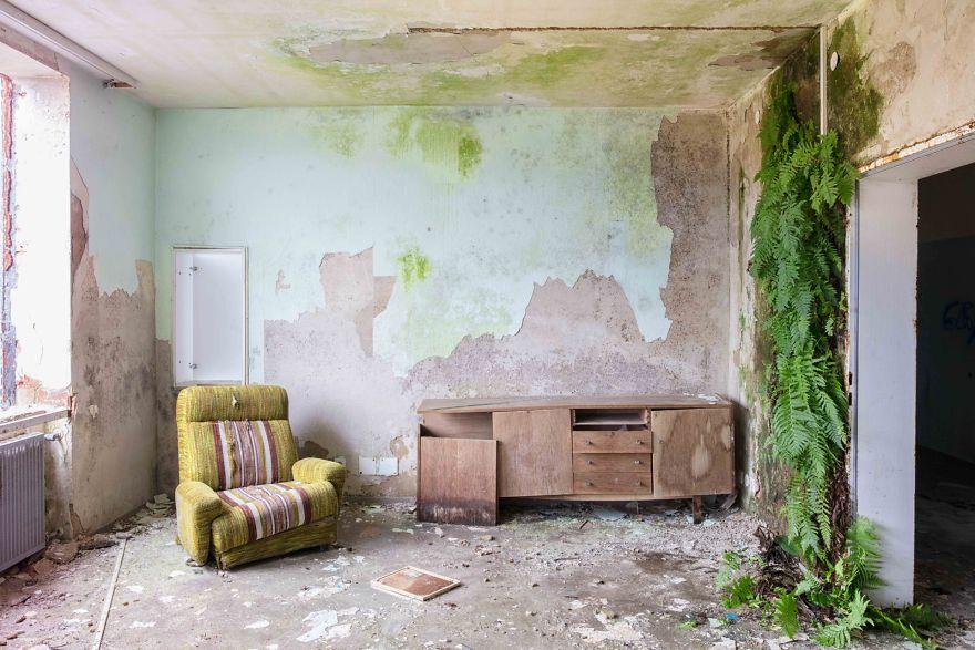O que em tempos terá sido uma sala
