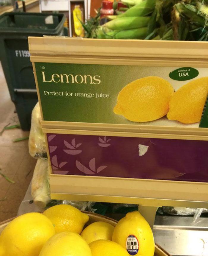 Limões... para fazer sumo de laranja
