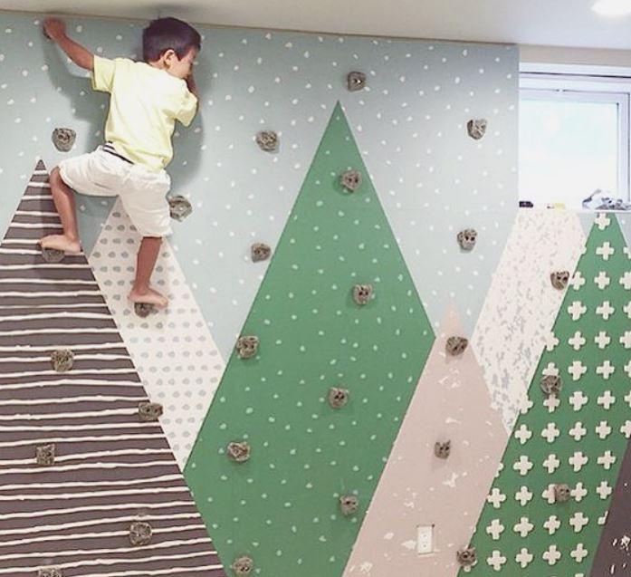 E uma parede de escalada?