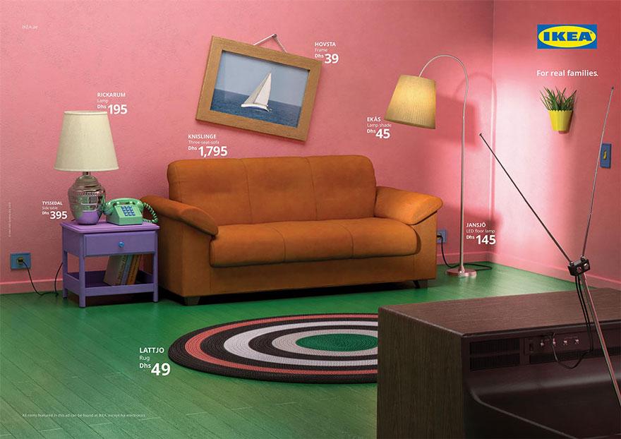 A recriação da sala de estar