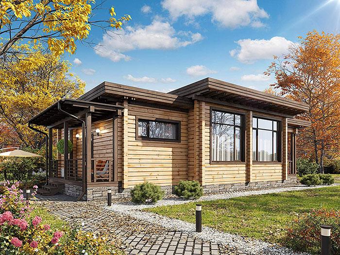 Laminated Log House
